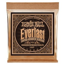 Ernie Ball Everlast Coated Phosphor Bronze Acoustic Guitar String Set - 11-52 Light 2548