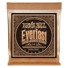 Ernie Ball Everlast Coated Phosphor Bronze Acoustic Guitar String Set - 10-50 Extra Light 2550