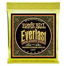Ernie Ball Everlast Coated 80/20 Bronze Acoustic Guitar String Set - 11-52 Light 2558