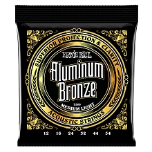 Ernie Ball Aluminum Bronze Acoustic Guitar String Set - 12-54 Medium-Light 2566