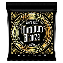 Ernie Ball Aluminum Bronze Acoustic Guitar String Set - 11-52 Light 2568