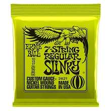 Ernie Ball Slinky Nickel Wound Electric Guitar String Set - 7-String 10-56 Regular Slinky 2621