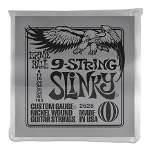 Ernie Ball Slinky Nickel Wound Electric Guitar String Set - 9-String 09-105 Slinky 2628