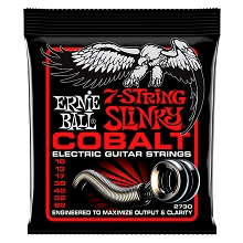 Ernie Ball Slinky Cobalt Wound Electric Guitar String Set - 7-String 10-62 Skinny Top Heavy Bottom Slinky 2730