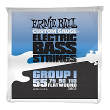 Ernie Ball Traditional Flatwound Bass Strings Long Scale - 4-String 55-110 Group I 2802
