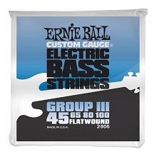 Ernie Ball Traditional Flatwound Bass Strings Long Scale - 4-String 45-100 Group III 2806