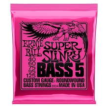 Ernie Ball Slinky Nickel Wound Bass Strings Long Scale - 5-String 40-125 Super Slinky 2824