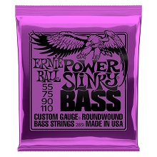 Ernie Ball Slinky Nickel Wound Bass Strings Long Scale - 4-String 55-110 Power Slinky 2831
