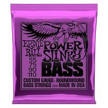 Ernie Ball 2814 Super Slinky Flatwound Bass Set .045 .100