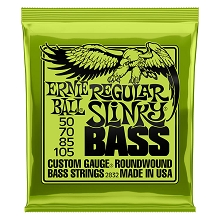 Ernie Ball Slinky Nickel Wound Bass Strings Long Scale - 4-String 50-105 Regular Slinky 2832