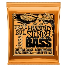 Ernie Ball Slinky Nickel Wound Bass Strings Long Scale - 4-String 45-105 Hybrid Slinky 2833