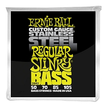 Ernie Ball Slinky Stainless Steel Wound Bass Strings Long Scale - 4-String 50-105 Regular Slinky 2842