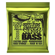 Ernie Ball Slinky Nickel Wound Bass Strings Short Scale - 4-String 45-105 Regular Slinky 2852