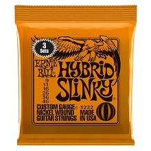 Ernie Ball Slinky Nickel Wound Electric Guitar String Sets - 09-46 Hybrid Slinky 3222 3-Pack