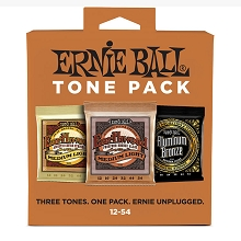 Ernie Ball Acoustic Guitar Tone Pack - 12-54 Medium-Light 3-Sets