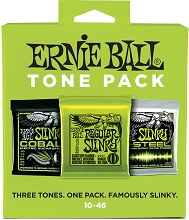 Ernie Ball Electric Guitar Tone Pack - 10-46 Regular Slinky 3331 3-Sets