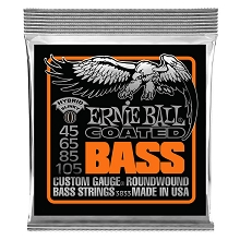 Ernie Ball Slinky Coated Nickel Wound Bass Strings Long Scale - 4-String 45-105 Hybrid Slinky 3833