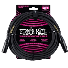 Ernie Ball 25' XLR Male/Female Microphone Cable - Black