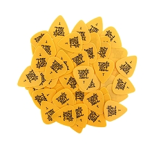 Ernie Ball Cellulose Guitar Picks - .46mm Thin Yellow bag of 144