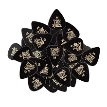Ernie Ball Cellulose Guitar Picks - .72mm Medium Black bag of 144