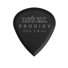 Ernie Ball Prodigy Mini Guitar Picks - 1.5mm Black 6-Pack