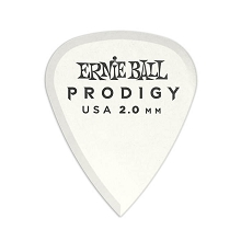 Ernie Ball Prodigy Guitar Picks - 2.0mm White 6-Pack