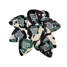 Ernie Ball Cellulose Guitar Picks - .72mm Medium Camouflage bag of 12