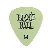Ernie Ball Cellulose Guitar Picks - .72mm Medium Super Glow bag of 12
