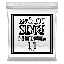 Ernie Ball Slinky M-Steel Plain Steel Single Guitar String .011p