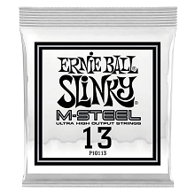 Ernie Ball Slinky M-Steel Plain Steel Single Guitar String .013p