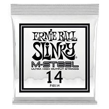 Ernie Ball Slinky M-Steel Plain Steel Single Guitar String .014p