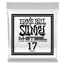 Ernie Ball Slinky M-Steel Plain Steel Single Guitar String .017p