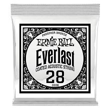 Ernie Ball Everlast Coated Phosphor Bronze Acoustic Guitar Single String .028w
