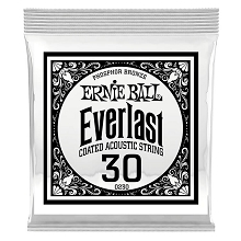 Ernie Ball Everlast Coated Phosphor Bronze Acoustic Guitar Single String .030w