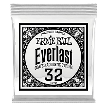 Ernie Ball Everlast Coated Phosphor Bronze Acoustic Guitar Single String .032w