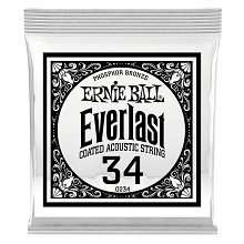 Ernie Ball Everlast Coated Phosphor Bronze Acoustic Guitar Single String .034w