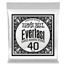 Ernie Ball Everlast Coated Phosphor Bronze Acoustic Guitar Single String .040w