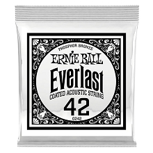 Ernie Ball Everlast Coated Phosphor Bronze Acoustic Guitar Single String .042w