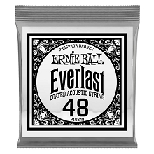 Ernie Ball Everlast Coated Phosphor Bronze Acoustic Guitar Single String .048w