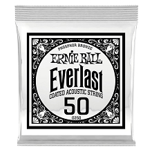 Ernie Ball Everlast Coated Phosphor Bronze Acoustic Guitar Single String .050w