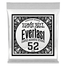 Ernie Ball Everlast Coated Phosphor Bronze Acoustic Guitar Single String .052w