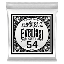 Ernie Ball Everlast Coated Phosphor Bronze Acoustic Guitar Single String .054w