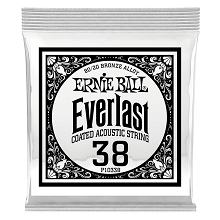 Ernie Ball Everlast Coated 80/20 Bronze Acoustic Guitar Single String .038w