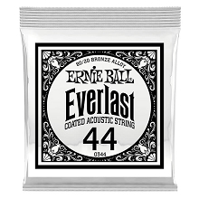 Ernie Ball Everlast Coated 80/20 Bronze Acoustic Guitar Single String .044w