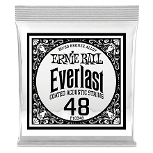 Ernie Ball Everlast Coated 80/20 Bronze Acoustic Guitar Single String .048w