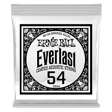Ernie Ball Everlast Coated 80/20 Bronze Acoustic Guitar Single String .054w
