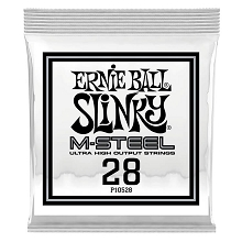 Ernie Ball Slinky M-Steel Round Wound Electric Guitar Single String .028w