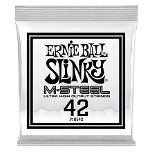 Ernie Ball Slinky M-Steel Round Wound Electric Guitar Single String .042w