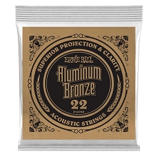 Ernie Ball Aluminum Bronze Acoustic Guitar Single String .022w