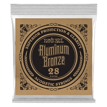 Ernie Ball Aluminum Bronze Acoustic Guitar Single String .028w